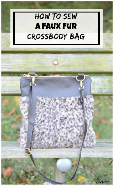 free cross body bag pattern using faux fur and faux leather