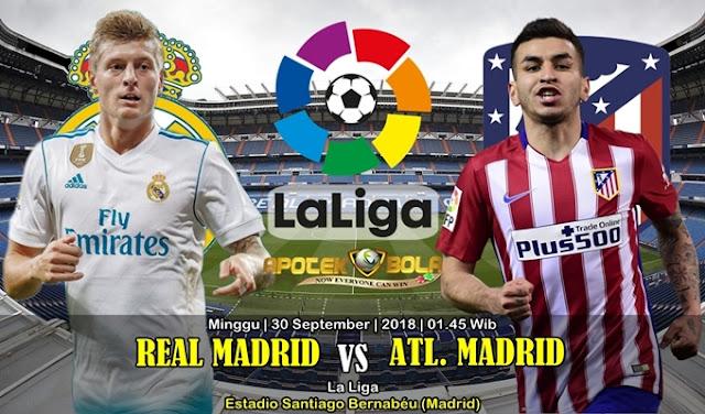 Prediksi Real Madrid vs Atletico Madrid 30 September 2018