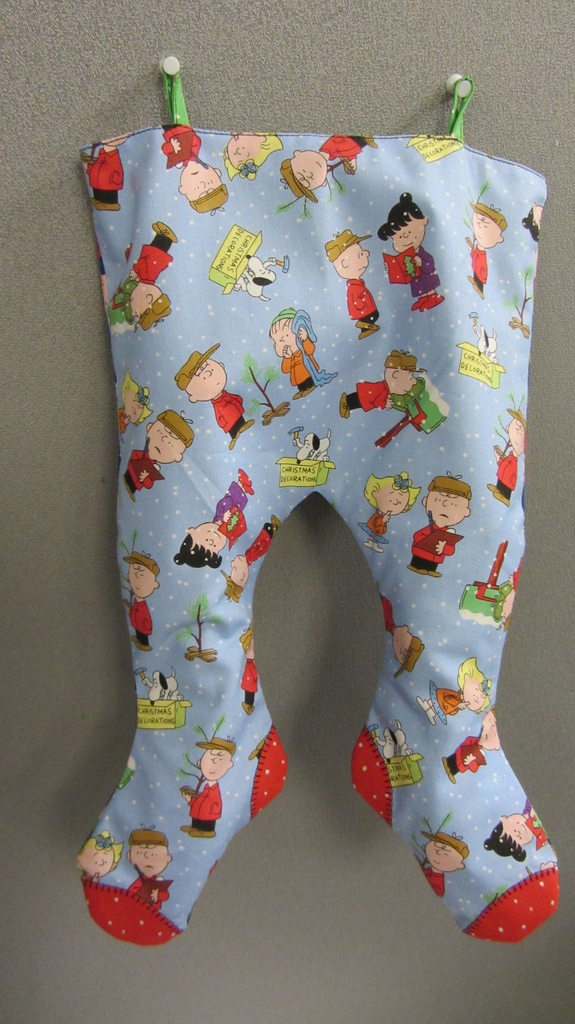 On The Mend Christmas Stockings Calico Moon Pattern