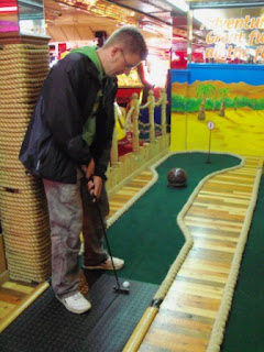Indoor Mini Golf at the Fairworld Amusement Arcade in Cleethorpes