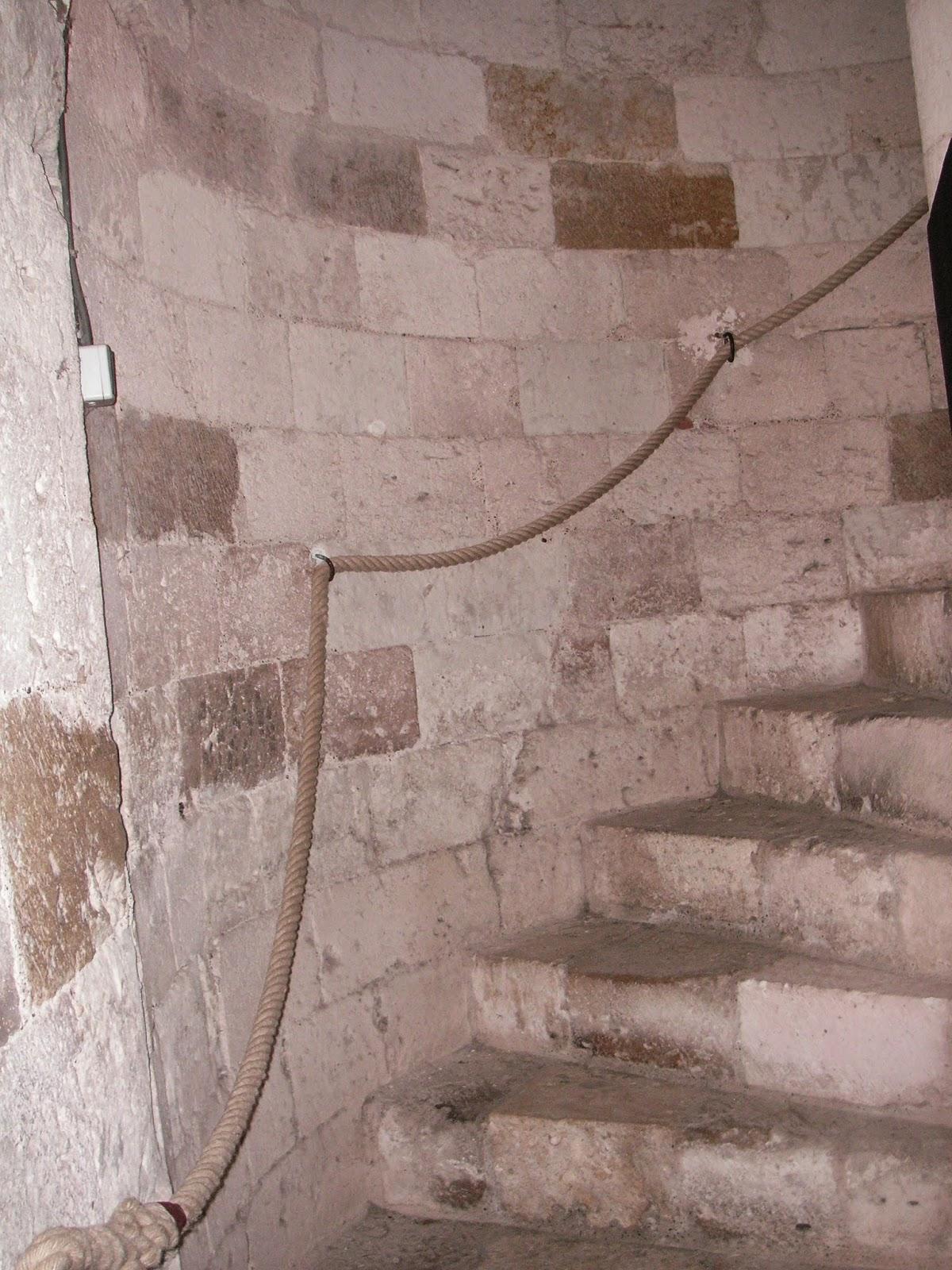 Main Courante Escalier Corde photos cordages : main courante cloître en corde chanvre 30mm