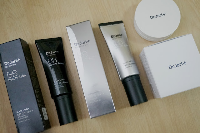 Luxola Haul: Dr. Jart+ Silver Label Rejuvenating BB, Black Label Nourishing BB, Bounce BB Moist