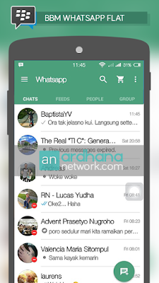 Preview BBM Whatsapp Flat Design
