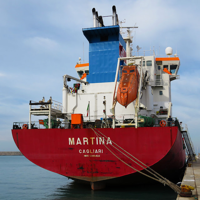 Tanker Martina, IMO 9143439, port of Livorno