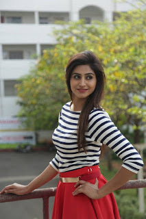 Varshini Sounderajan Long Legs Show In Mini Red Skirt (1)