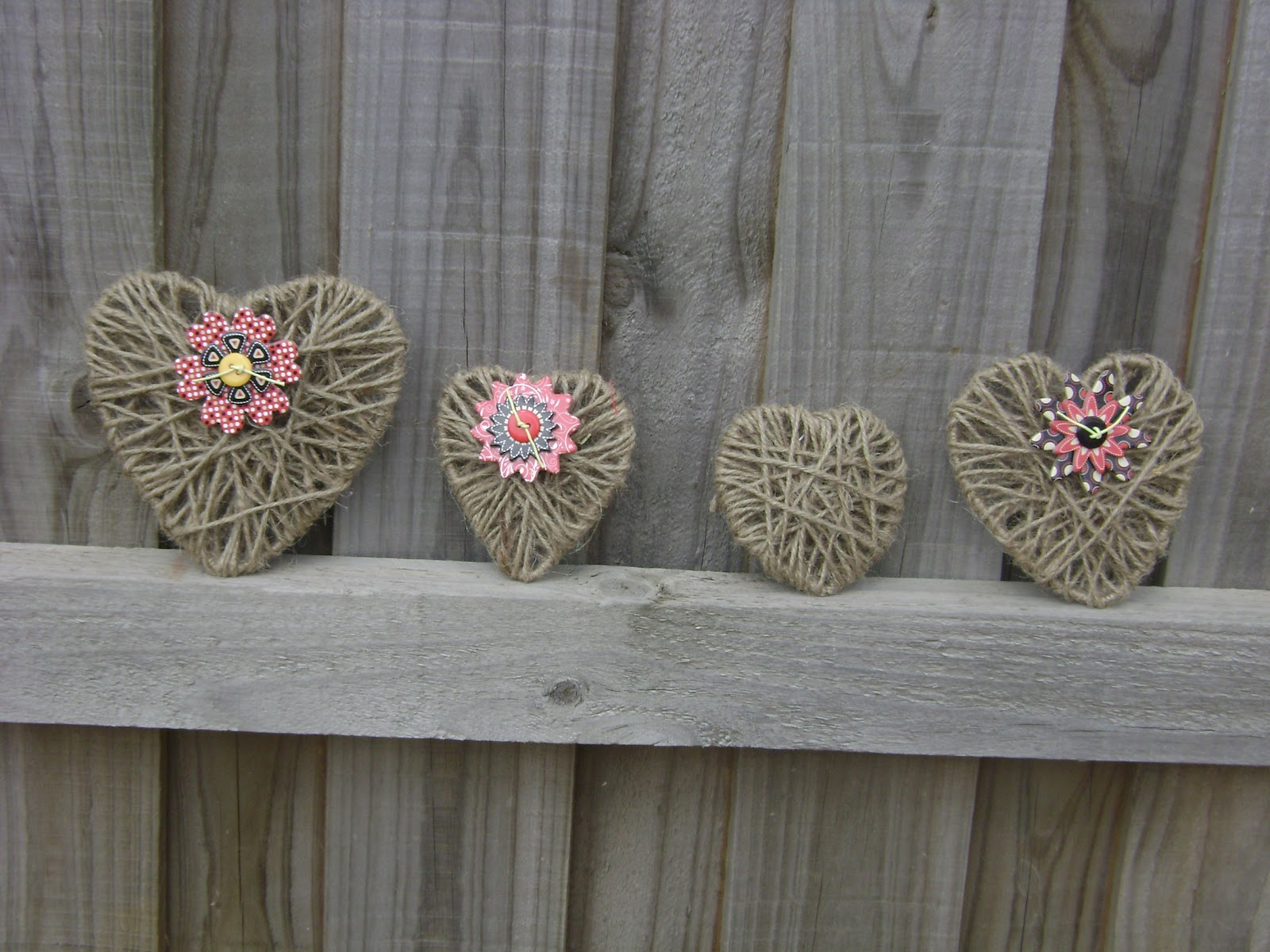 twine crafts ideas dk s craft caf 233 s crafts 2 easy made hearts 3150
