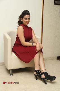 Telugu Tollywood Anchor Manjusha Pos in Red Short Dress  0136.JPG