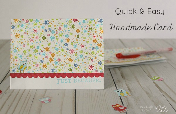 Quickly make a handmade card that will bring a smile to a friends face