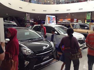 Pameran Mobil Toyota di Lippo Mall Sidoarjo