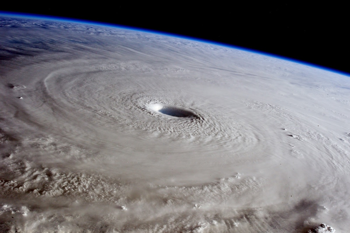 Super Typhoon Maysak from ISS