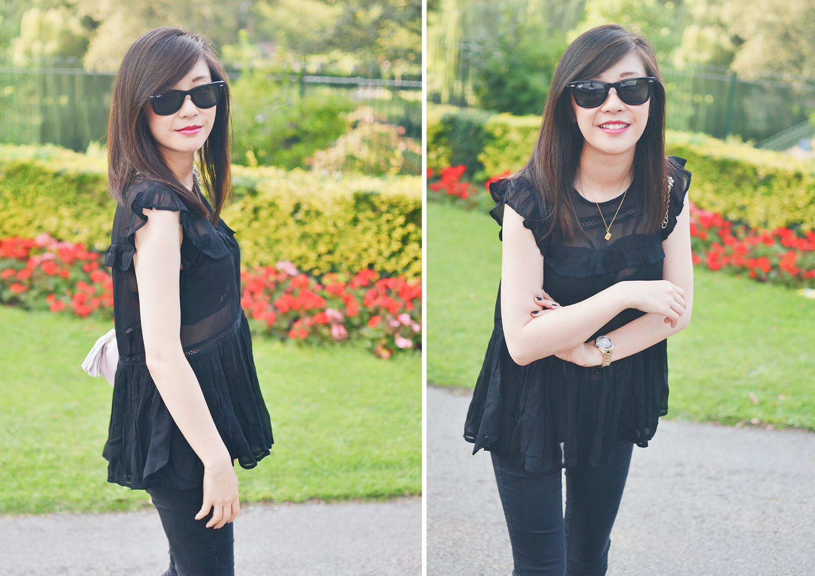 fashion blogger personal style outfit of the day, all black outfit
