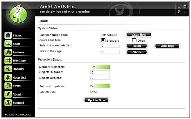 NETGATE Amiti Antivirus 25.0.320 F.u.l.l - Phần mềm diệt virut hiệu quả