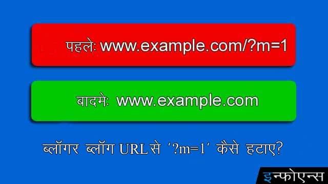 ब्लॉगर ब्लॉग URL से '?m=1' कैसे हटाए?