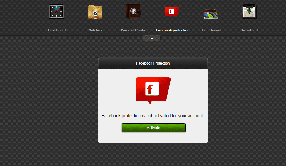 Bitdefender Internet Security 2015 Facebook Protection