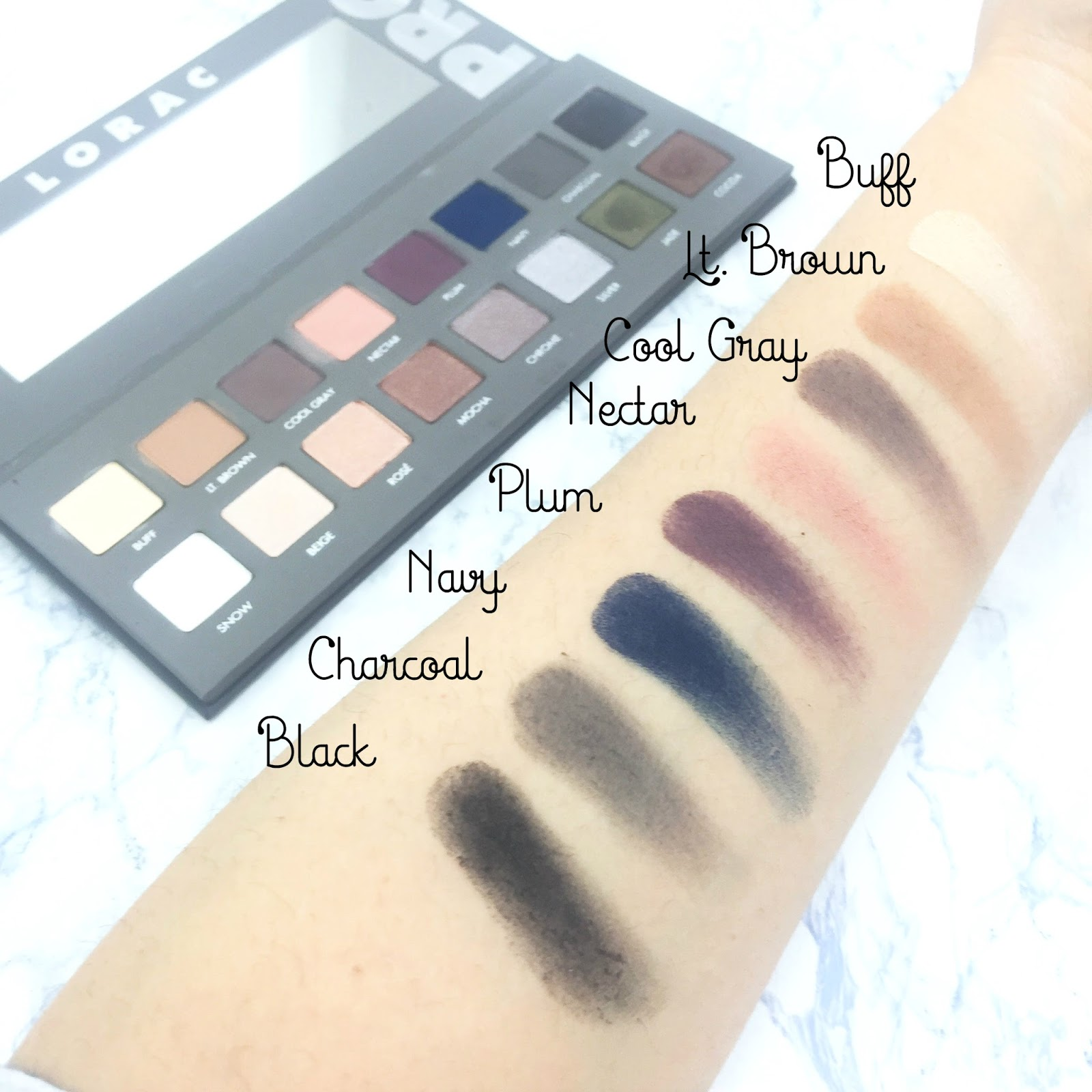 The Lorac Pro 2 Palette Swatches