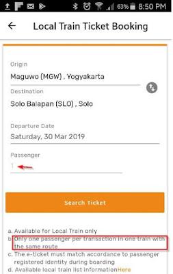 Cara pesan tiket kereta api Prameks secara online
