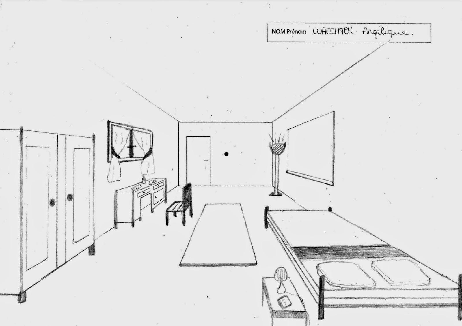 Dessin Chambre En Perspective - Conceptions De La Maison - Bizoko.com
