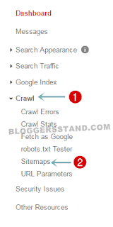 sitemap setting in google search console