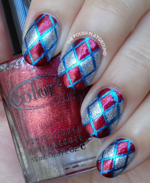 Phone Case Pattern Inspired Nail Art