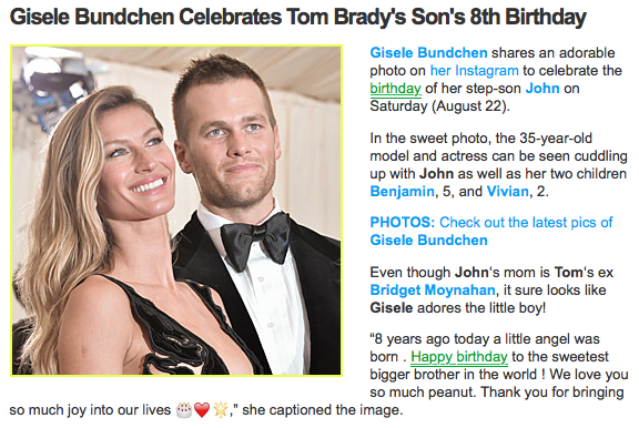 free to find truth: 35 228 | Tom Brady's Son, and Media