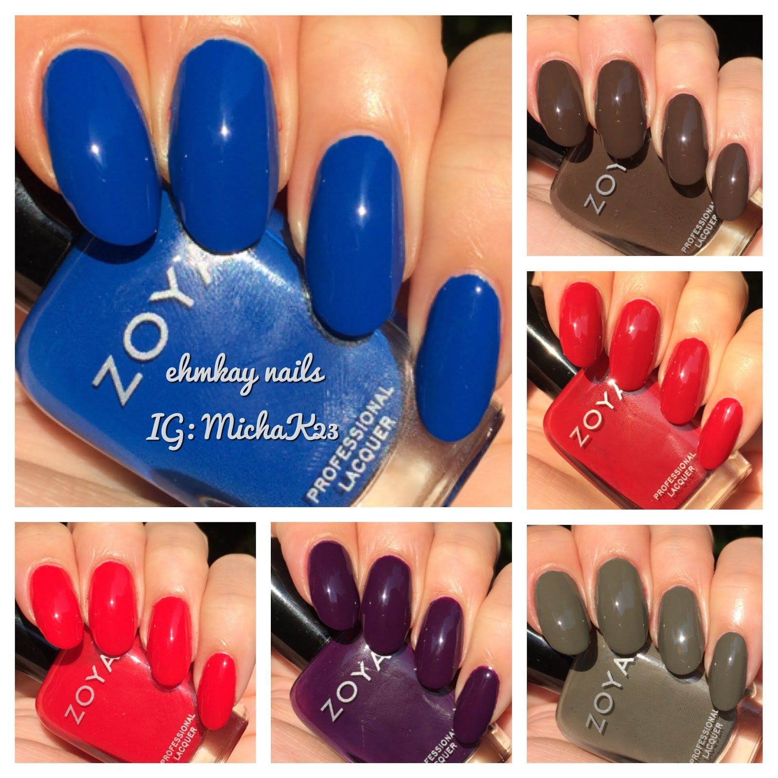 ehmkay nails: Zoya Fall 2015 Focus Collection: Swatches and Review