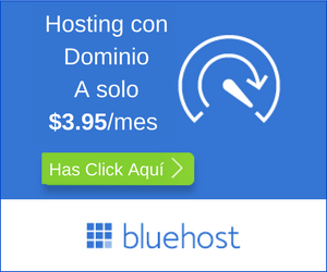 Hosting y dominio en BlueHost