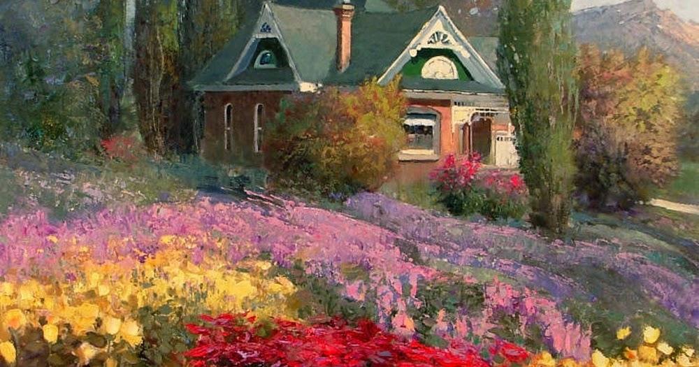 Im genes arte pinturas fant sticos paisajes de vistas - Paisajes de casas de campo ...