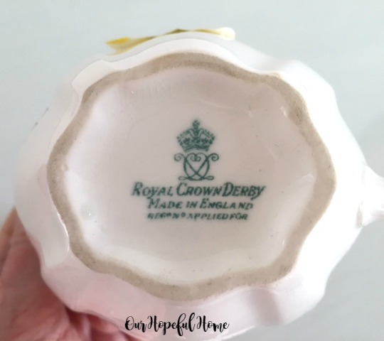 Royal Crown Derby Surrey White Milk Jug Creamer thrifted makers mark