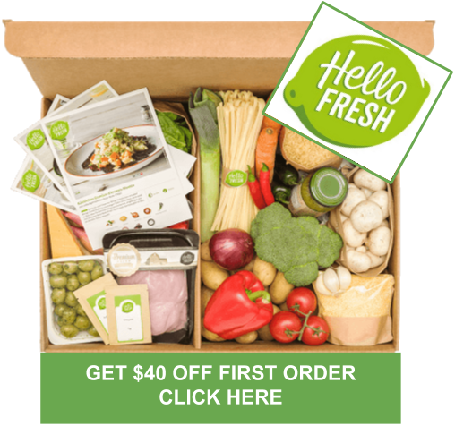 HELLO FRESH Get $40 DISCOUNT FOR 1ST ORDER