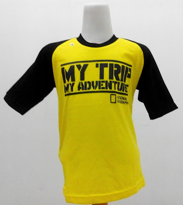 Kaos Raglan Anak My Trip My Adventure (MTMA) Kuning