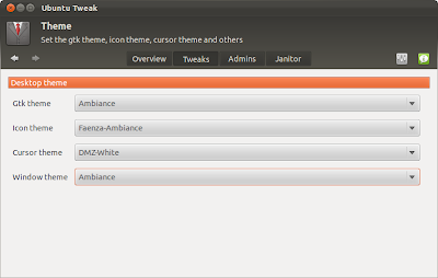 Ubuntu Tweak to edit theme settings