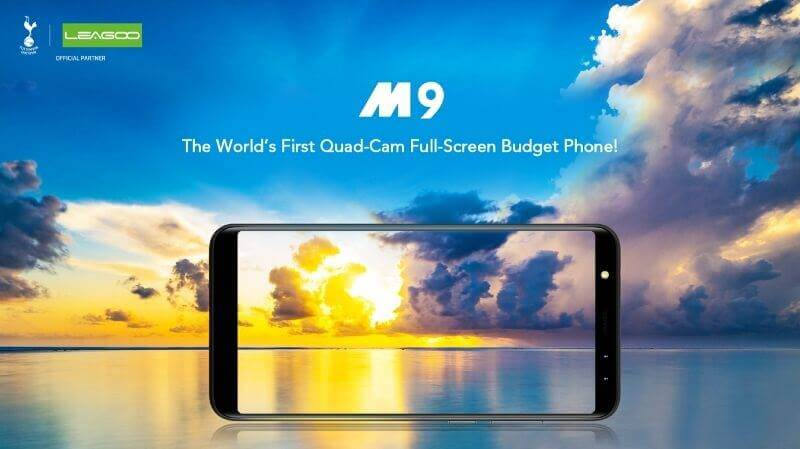 Leagoo M9 Is an Affordable 18:9 Smartphone Equipped with Quad-Cameras