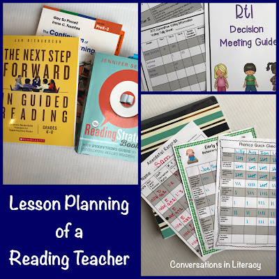 Lesson plans for a reading teacher