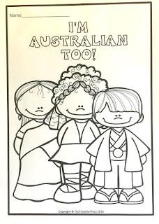 colouring page, coloring page, color, colour, australia, australian, day, techteacherpto3