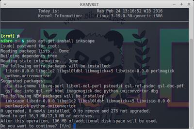 sudo apt-get install inkscape