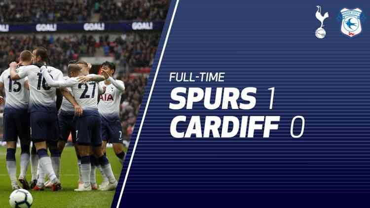 Hasil Tottenham Hotspur vs Cardiff City Skor Akhir 1-0
