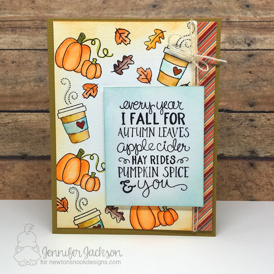 Coffee Lovers Fall Blog Hop! Fall-ing for You stamp set by Newton's Nook Designs #newtonsnook