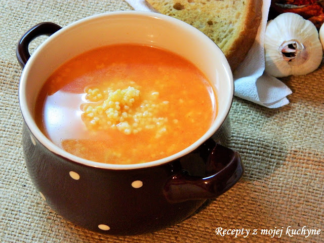 Cesnaková polievka so pšenom