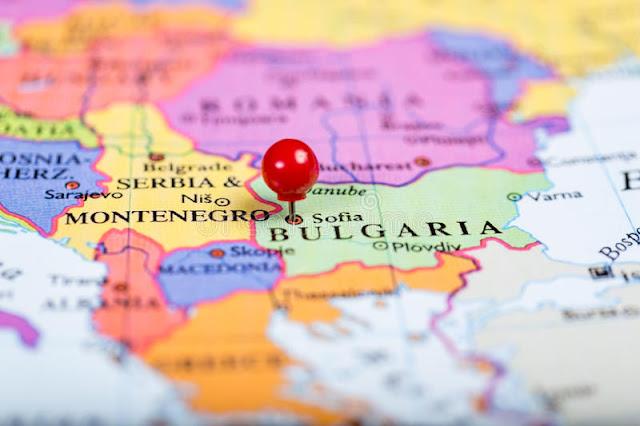 Bulgaria mapa Europa UE