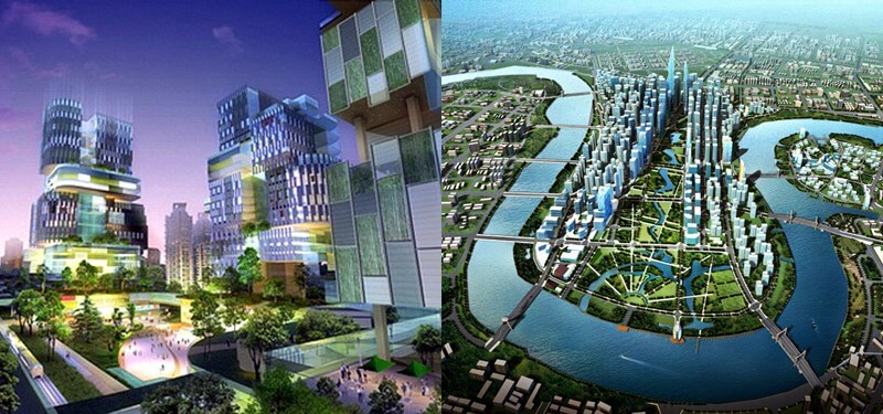 Vistas de Tianjin Eco-City