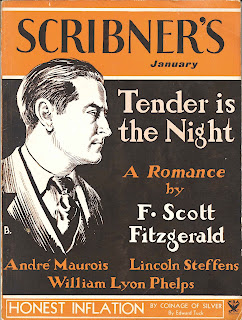 "The cover of a Scribner's Magazine issue of ""Tender is the Night."""