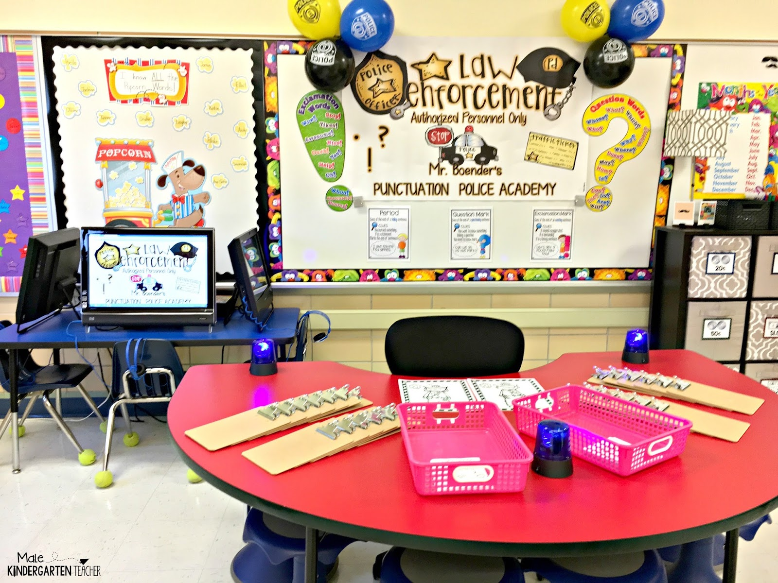 I Setup My Classroom With All Of The Supplies For Our Lesson On Red Table In Back Room This Includes Small Clipboards Each Students