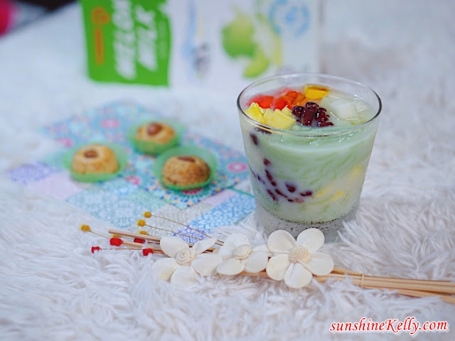 Rainbow Cendol Melon Milk, malaysia cendol recipe, Dessert Recipe, Dessert, Malaysia Dessert, Recipe, pokka, pokka milk, pokka melon milk, pokka malaysia