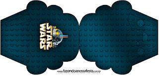 Tarjeta con forma de cupcake deStar Wars Lego.