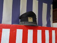 大阪天満宮 大きな学生帽