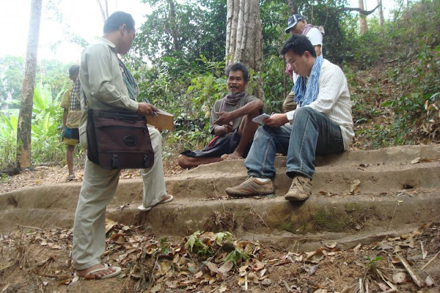 Archaeologists scale history of ancient staircase in Cambodia