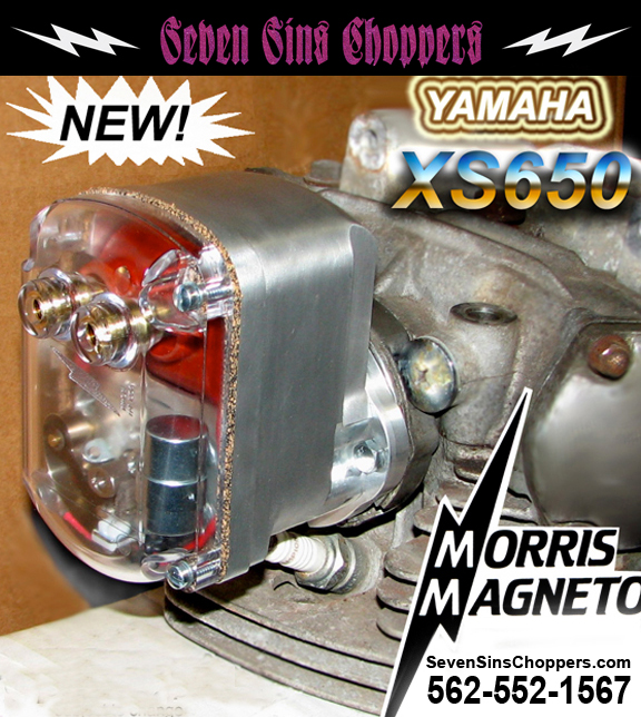 Seven Sins Choppers: XS650 Yamaha Morris Magneto at Seven SIns Choppers
