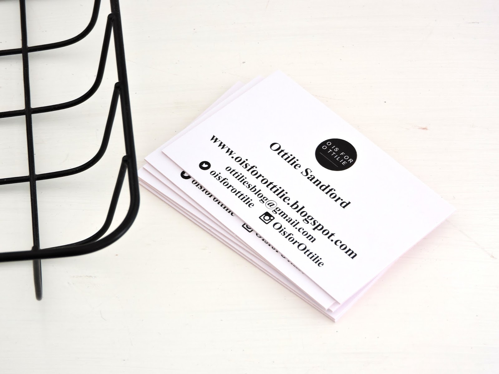 Luxury coloured core business cards o is for ottilie these luxury business cards have the option of being printed in colour or black and white on high quality card in whatever design you wish reheart Image collections