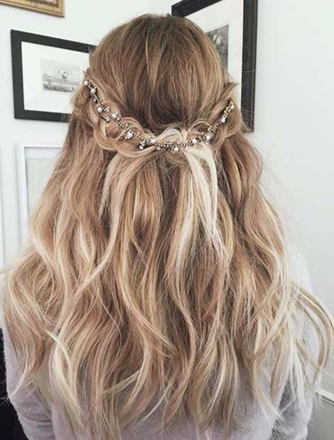 Cute Hairstyles For Prom half up half down prom hairstyles are really trendy this season check out our photo You Can Always Style Up Your Waterfall Hair With Accessories
