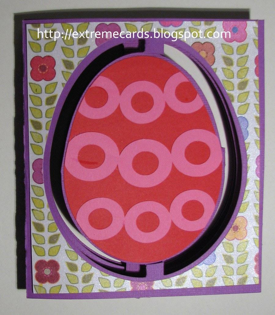 Easter egg accordion 3d pop up card